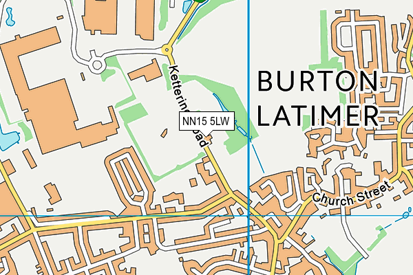 Burton Latimer Town Cricket Club map (NN15 5LW) - OS VectorMap District (Ordnance Survey)