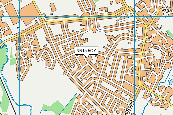 Meadowside Primary School map (NN15 5QY) - OS VectorMap District (Ordnance Survey)