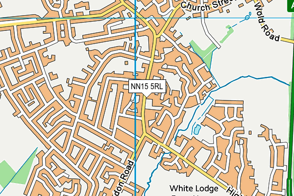 St. Marys CofE Primary School map (NN15 5RL) - OS VectorMap District (Ordnance Survey)