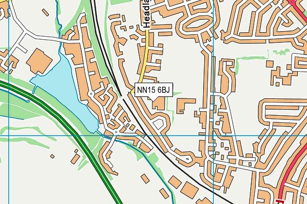 Bishop Stopford School map (NN15 6BJ) - OS VectorMap District (Ordnance Survey)