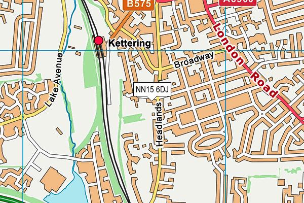 St Peter's School map (NN15 6DJ) - OS VectorMap District (Ordnance Survey)