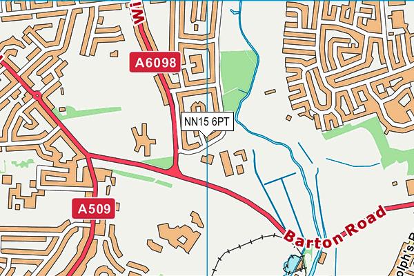 Isebrook SEN Cognition & Learning College map (NN15 6PT) - OS VectorMap District (Ordnance Survey)