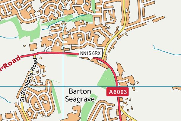 Barton Seagrave Cricket Club map (NN15 6RX) - OS VectorMap District (Ordnance Survey)