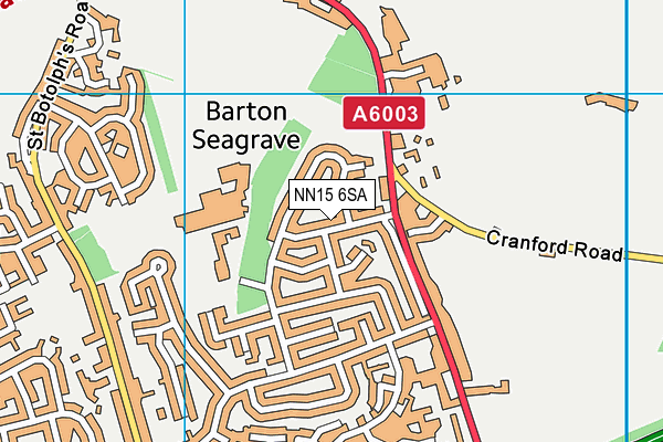 NN15 6SA map - OS VectorMap District (Ordnance Survey)