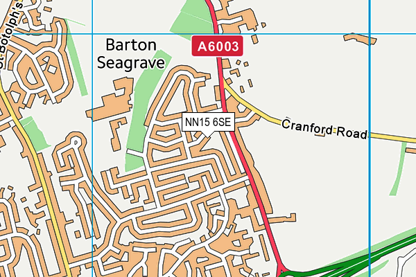 NN15 6SE map - OS VectorMap District (Ordnance Survey)