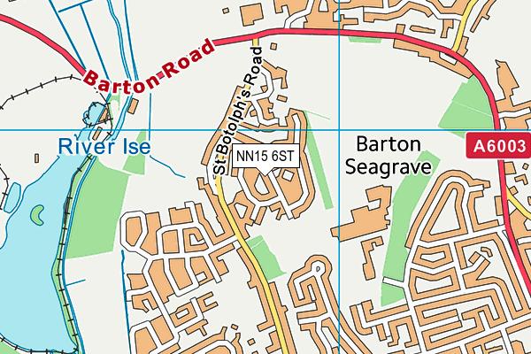 NN15 6ST map - OS VectorMap District (Ordnance Survey)