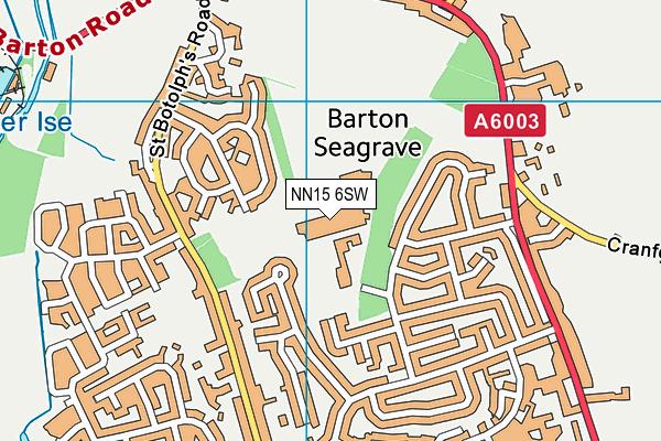 The Latimer Arts College map (NN15 6SW) - OS VectorMap District (Ordnance Survey)