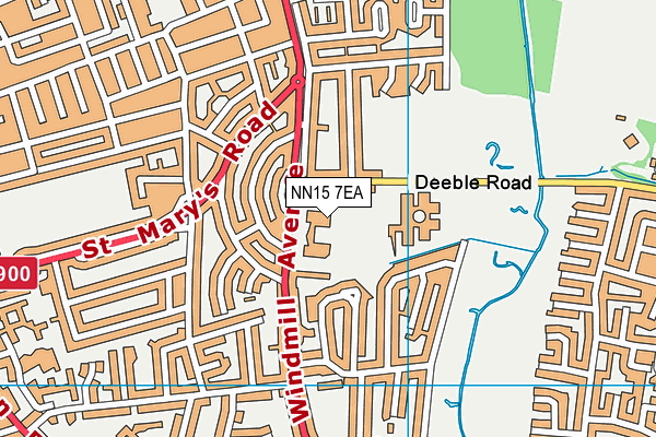 Compass Primary Academy map (NN15 7EA) - OS VectorMap District (Ordnance Survey)