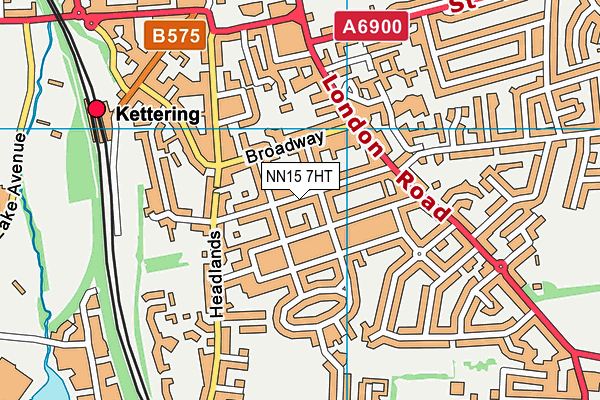 Hawthorn Community Primary School map (NN15 7HT) - OS VectorMap District (Ordnance Survey)