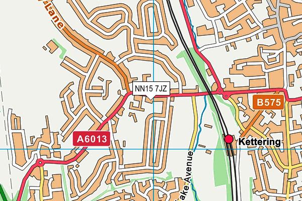 St Thomas More Catholic Primary School map (NN15 7JZ) - OS VectorMap District (Ordnance Survey)