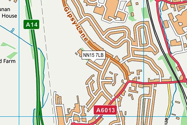 Wren Spinney Community School map (NN15 7LB) - OS VectorMap District (Ordnance Survey)