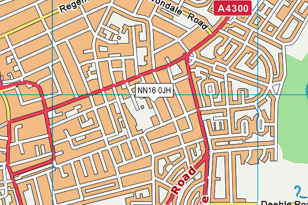 St Mary's Church of England Voluntary Aided Primary School map (NN16 0JH) - OS VectorMap District (Ordnance Survey)