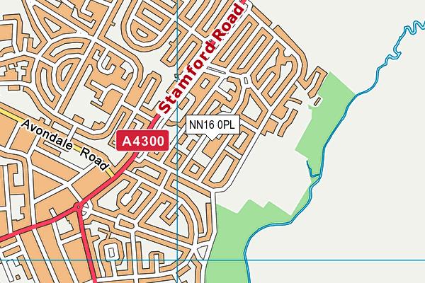 Grange Primary Academy map (NN16 0PL) - OS VectorMap District (Ordnance Survey)