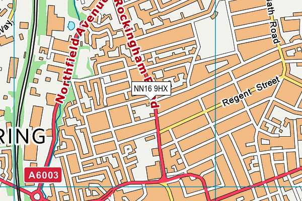 Youth Works Community College map (NN16 9HX) - OS VectorMap District (Ordnance Survey)
