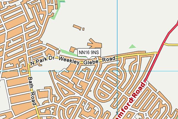 Kettering Buccleuch Academy map (NN16 9NS) - OS VectorMap District (Ordnance Survey)