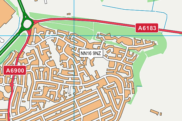 Brambleside Primary School map (NN16 9NZ) - OS VectorMap District (Ordnance Survey)