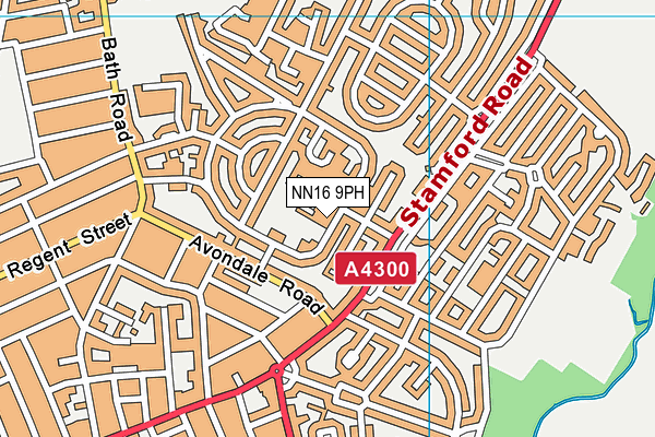 Ronald Tree Nursery School map (NN16 9PH) - OS VectorMap District (Ordnance Survey)