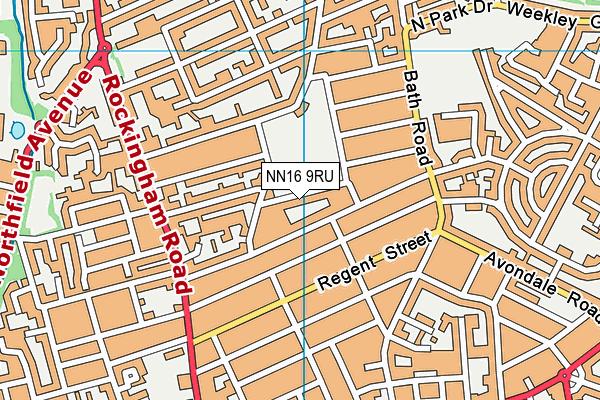 Kettering Park Infant Academy map (NN16 9RU) - OS VectorMap District (Ordnance Survey)