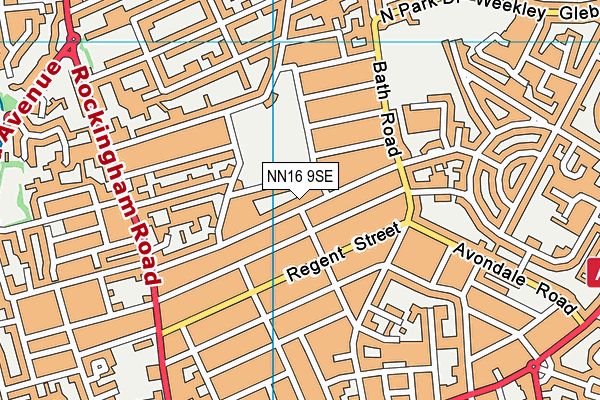 Kettering Park Junior Academy map (NN16 9SE) - OS VectorMap District (Ordnance Survey)