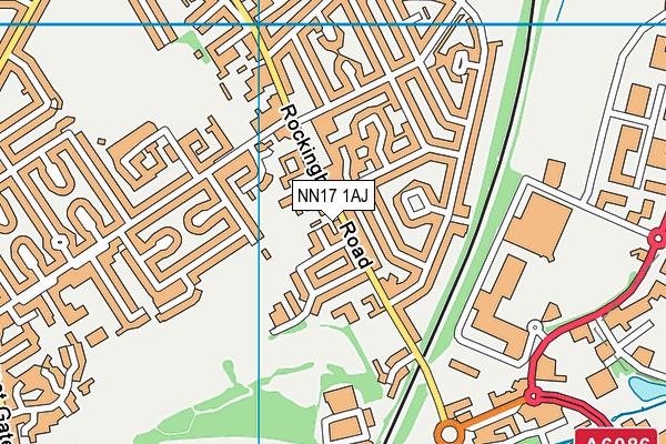 Rockingham Primary School map (NN17 1AJ) - OS VectorMap District (Ordnance Survey)