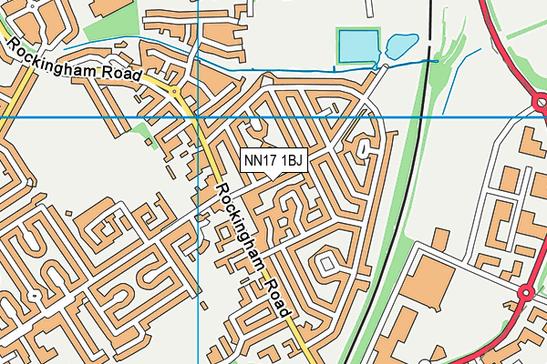 Pen Green Centre for Children and Their Families map (NN17 1BJ) - OS VectorMap District (Ordnance Survey)