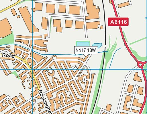 NN17 1BW map - OS VectorMap District (Ordnance Survey)