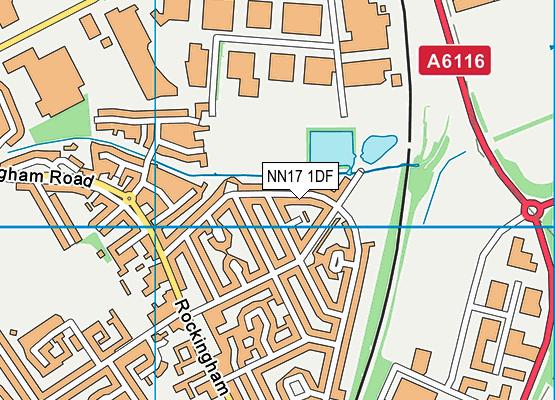 NN17 1DF map - OS VectorMap District (Ordnance Survey)