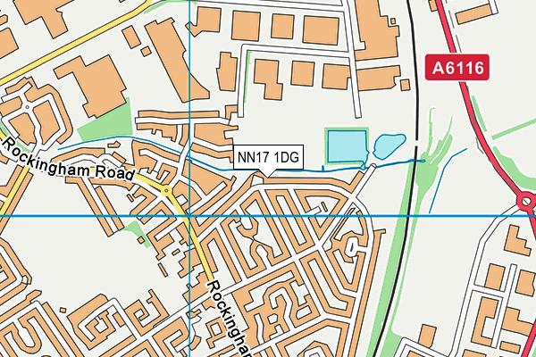 NN17 1DG map - OS VectorMap District (Ordnance Survey)