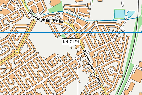 Xtreme Fitness (Closed) map (NN17 1EH) - OS VectorMap District (Ordnance Survey)
