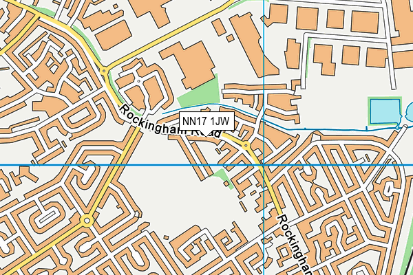 NN17 1JW map - OS VectorMap District (Ordnance Survey)
