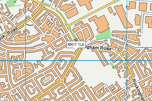 NN17 1LA map - OS VectorMap District (Ordnance Survey)