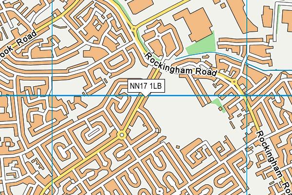 NN17 1LB map - OS VectorMap District (Ordnance Survey)