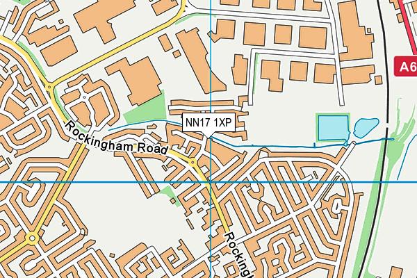 NN17 1XP map - OS VectorMap District (Ordnance Survey)