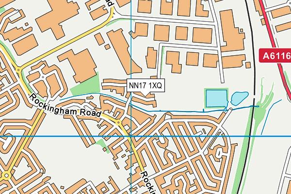 NN17 1XQ map - OS VectorMap District (Ordnance Survey)