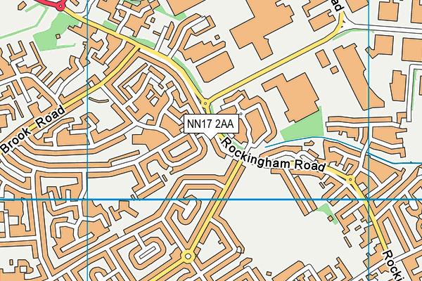 NN17 2AA map - OS VectorMap District (Ordnance Survey)