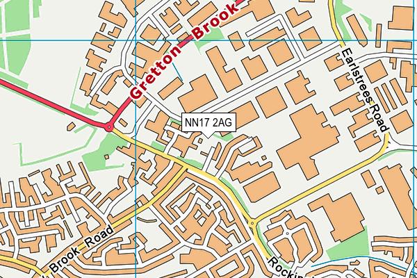 NN17 2AG map - OS VectorMap District (Ordnance Survey)