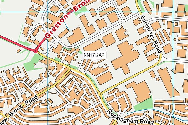 NN17 2AP map - OS VectorMap District (Ordnance Survey)