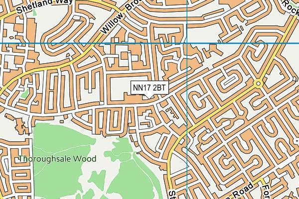 Studfall Junior Academy map (NN17 2BT) - OS VectorMap District (Ordnance Survey)
