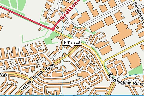 NN17 2EB map - OS VectorMap District (Ordnance Survey)