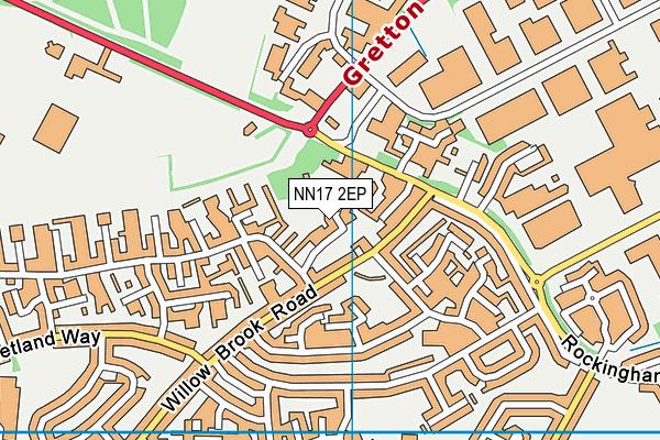 NN17 2EP map - OS VectorMap District (Ordnance Survey)