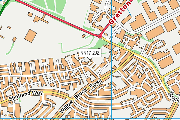 NN17 2JZ map - OS VectorMap District (Ordnance Survey)