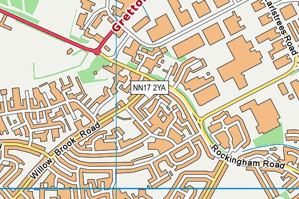 NN17 2YA map - OS VectorMap District (Ordnance Survey)