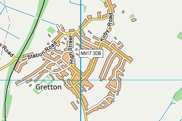 Gretton Primary School map (NN17 3DB) - OS VectorMap District (Ordnance Survey)