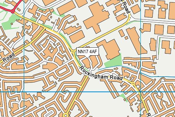 NN17 4AF map - OS VectorMap District (Ordnance Survey)
