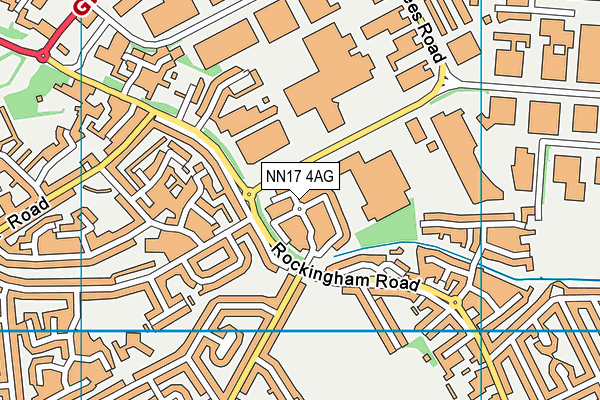 NN17 4AG map - OS VectorMap District (Ordnance Survey)
