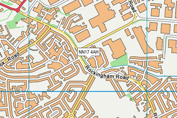 NN17 4AH map - OS VectorMap District (Ordnance Survey)