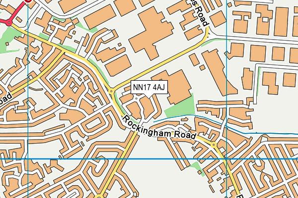 NN17 4AJ map - OS VectorMap District (Ordnance Survey)