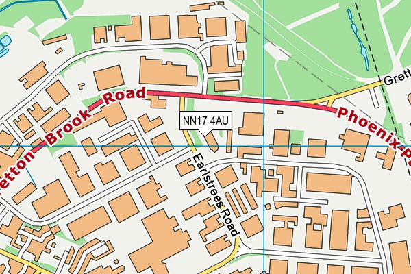 NN17 4AU map - OS VectorMap District (Ordnance Survey)