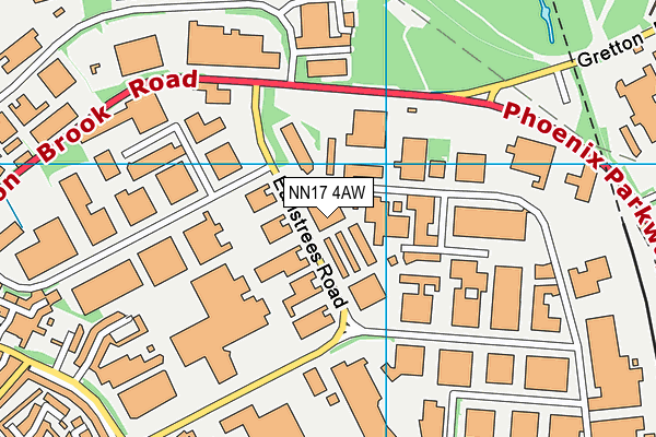 NN17 4AW map - OS VectorMap District (Ordnance Survey)