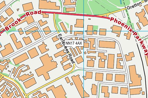 NN17 4AX map - OS VectorMap District (Ordnance Survey)